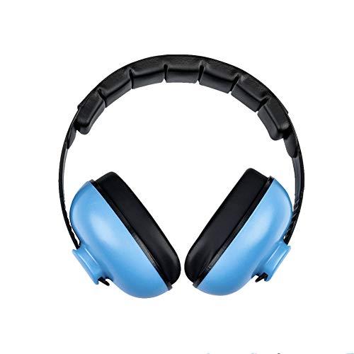 Baby Ohrenschützer mit Geräuschunterdrückung Kinder Gehörschutz Kapselgehörschützer, mit Verstellbarem Kopfband, Baby Gehörschutz für 0-3 Baby/Kleinkinder/Kinder(Blau)