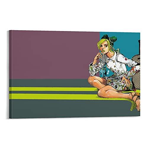 ジョジョの奇妙な冒険アニメ(2)ポスターデコレーション絵画キャンバスウォールアートリビングルーム壁画デコレーションポスター寝室デコレーション絵画24×36インチ(60×90cm)
