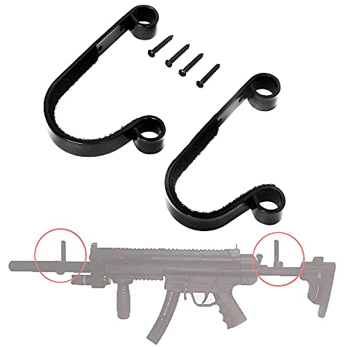 2PCS Gun Rack Shotgun Hooks Rifle Hangers Archery Bow Felt Lined Wall...