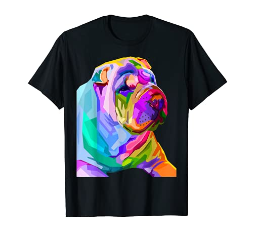 Retrato pop art del Shar Pei para el dueño del perro Camiseta
