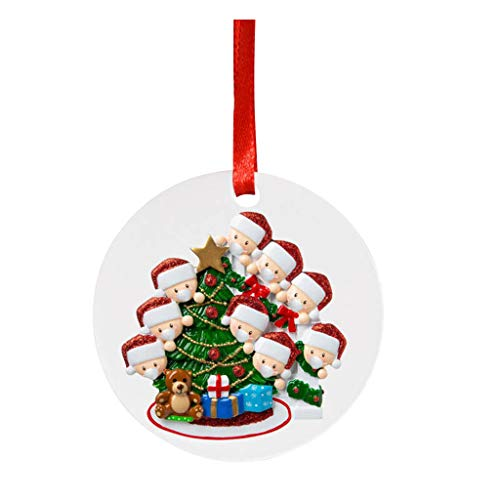 2020 Personalized Christmas Tree Hanging Ornaments, Creative Christmas Decorations Gifts Xmas Tree...
