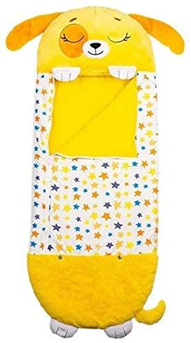 YTTde Amarillo Kids Play Pillow Fun Sleeping Bag Plegable Soft Kids Animal Sleeping Bag para El Hogar, Camping, Regalos