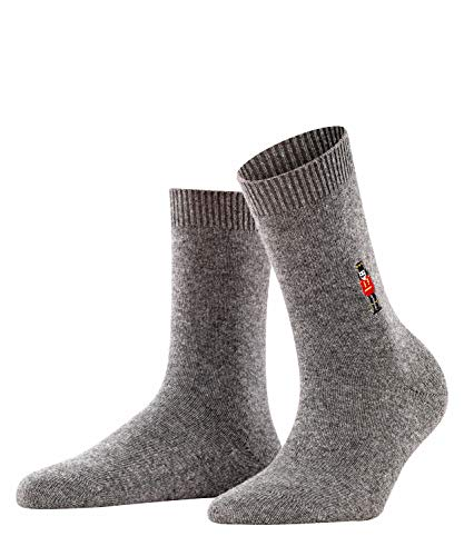 FALKE Damen Cosy Wool Nutcracker W SO Socken, grau (Grey Mix 3399), 39-42 (UK 5.5-8 Ι US 8-10.5)