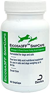 Dechra Eicosa 3FF SnipCaps Small Dogs Cats under 60 lbs (60 count) by Dechra