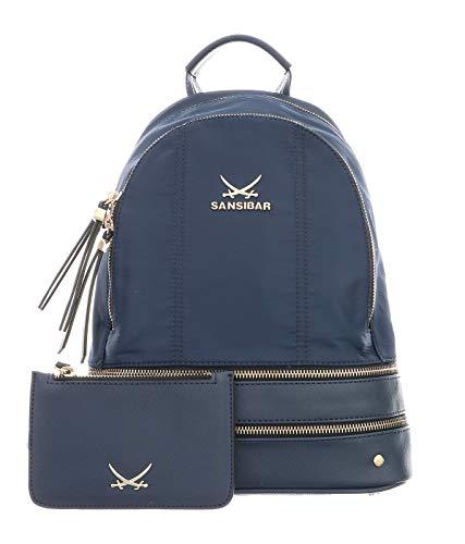 SANSIBAR-Damen Rucksack Backpack32x25x14-011-ocean Blue