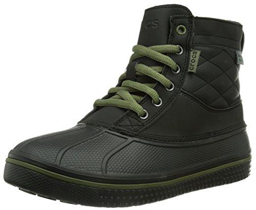 Crocs AllCast Waterproof Duck Boot M, Herren Schneestiefel, Schwarz (Black), 39/40 EU (7 Herren UK)