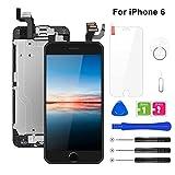 BuTure Display per iPhone 6 Schermo LCD Touch Nero 4.7' Assemblaggio Digitalizzatore Compatibile con Home Pulsante, Fotocamera, Altoparlante, Sensore di Prossimit Kit Completo di Riparazione