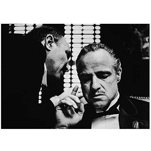 Plakaty filmowe i wydruki sztuka ścienna obraz na płótnie arlon Brando Ojciec chrzestny obrazy do salonu dekoracja domu - 50 x 71 cm bez ramki