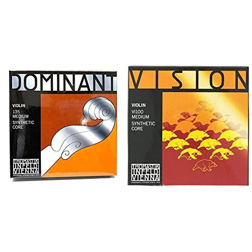【セット買い】THOMASTIK Dominant ドミナント 4/4バイオリン弦セット(E弦130 スチール・ボールエンド) 135 & Vision ヴィジョン 4/4 バイオリン弦セット