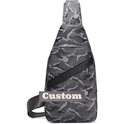 Nombre personalizado Cofre de cruz para mujer bolsa de hombro Senderismo Mini Daypack Mujer (Color : Grey, Size : One size)