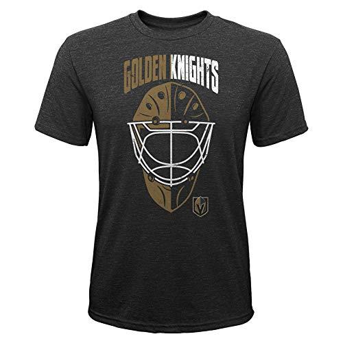 OuterStuff NHL Kinder T-Shirt Las Vegas Golden Knights Youth Mask Made Goalie Torwart Eishockey (M (10/12))