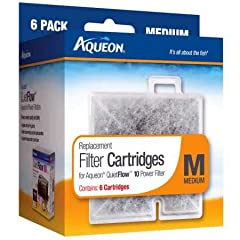 Fits Aqueon QuietFlow Filter: LED PRO Size 10 and E Internal 20 gallon Ready-to-use cartridge contains high quality activated carbon that keeps water clean, rinse before replacing Installs in seconds: align cartridge bottom key slot for an accurate f...