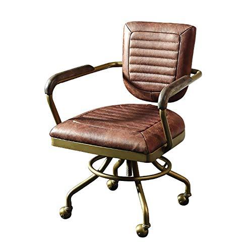 Mit massivholz handlauf home office boss stuhl Bürostuhl retro leder amerikanischer computer rotierender Bürostuhl MISU