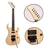 ZUWEI DIY Electric Guitar Kits BSESPUN - Basswood Body, Humbuckers Single Pickup, Banada Headstock, Maple Neck, Floydrose Bridge, Black Hardware 22F with 3.4 Feet Cable