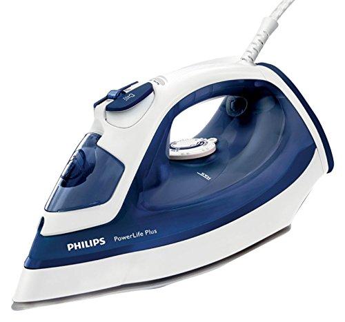 Philips Powerlife Plus gc2984/20–Bügeleisen (Dampfbügelpresse, SteamGlide-Bügelsohle, 2m, 140g/min, blau, weiß, 40g/min)