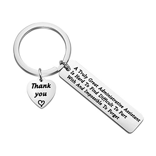 TGBJE Administrative Assistant Gift A Truly Great Administrative Assistant is Hard to Find Keychain Gift for Coworker Office Secretary Gift (Admin Assistant)