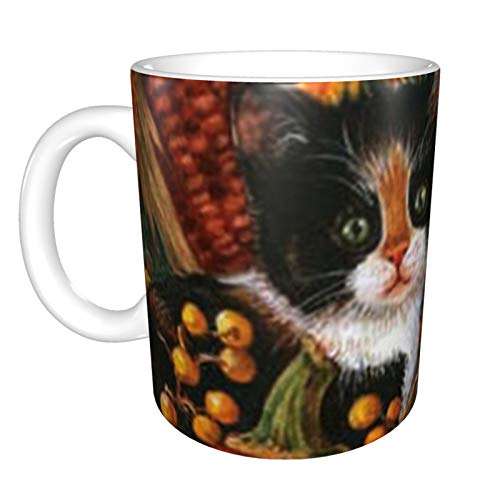 Ye Hua Fall Kittens Mug,This is a Personalized mug, This is a Lady Coffee Cup, Cute mug 11 oz