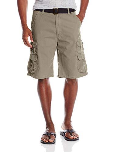 Wrangler Authentics Men's Premium Twill Cargo Short, Acorn Twill, 34