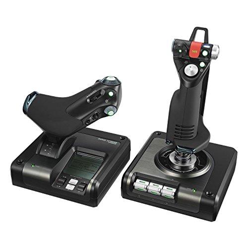 Controlador de Simulação com Manete e Acelerador com Partes Metálicas X52 Professional H.O.T.A.S, Logitech G, Joysticks e Controles para Computador
