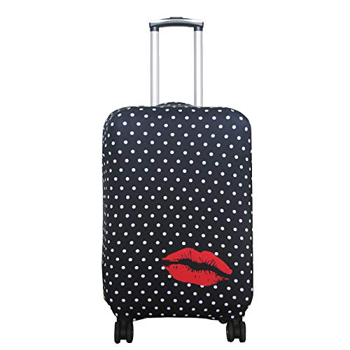 Explore Land Travel Luggage Cover Suitcase Protector Fits 18-32 Inch Luggage01 (Polkadot, L(27-30 inch Luggage))