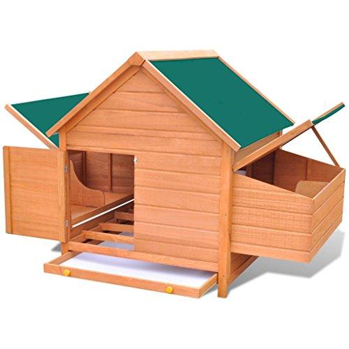 Gallinero de madera para aves de corral.