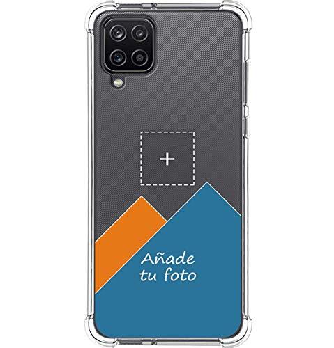 Personaliza tu Funda Silicona Anti-Golpes Transparente con tu Fotografía para Samsung Galaxy A12 / M12 Personalizada