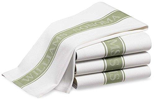 ウイリアムズソノマ Williams Sonoma キッチンタオル ラージサイズ 4枚セット (ライトグリーン) [並行輸入品]