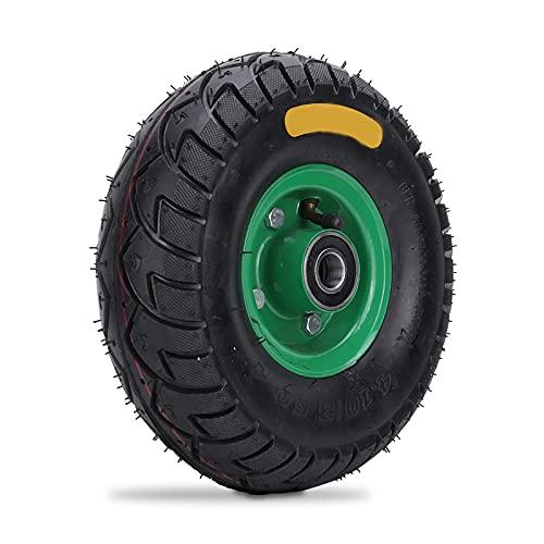 Agatige 4.10/3.50-4 6204-2RS Incorporado Que Lleva la Rueda del neumático del Carro de Goma, neumático de la Carretilla del camión del Saco de la Rueda