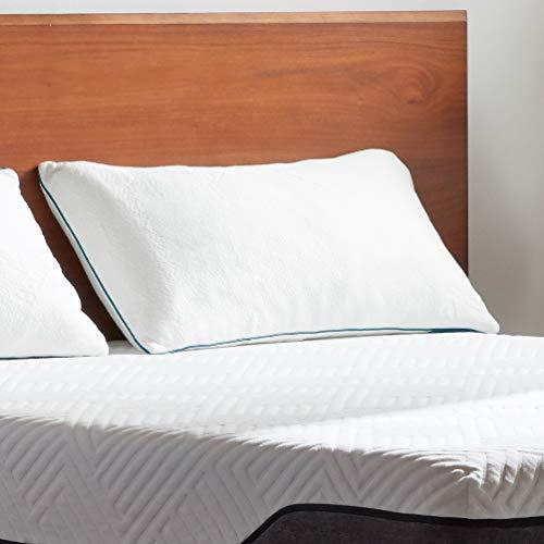 LUCID Premium Shredded Memory Foam Pillow-Hypoallergenic-Adjustable Loft-2 Pack-Queen, White