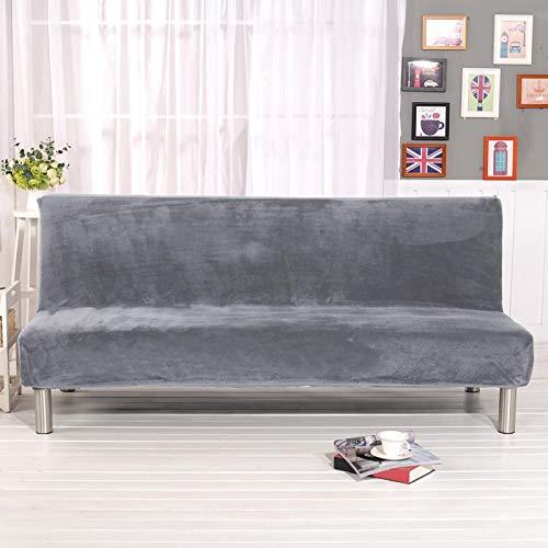 Luermeuk Armless Futon Cover Sofa Bed Cover FullSize ThickerPlushSofaCoverProtectorSofa Slipcover Stretch Velvet Sofa Bed Cover