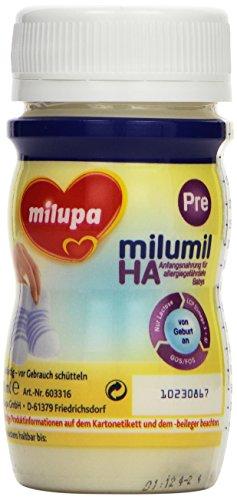Milupa Milumil HA Pre Anfangsnahrung mit hydrolysiertem Eiweiß, trinkfertig 24x90ml