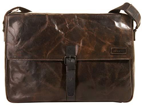 """Bugatti Smoky Messenger Bag für Damen und Herren mit 13"""" Laptopfach, Unisex Umhängetasche Kuriertasche Schultertasche, Braun"""