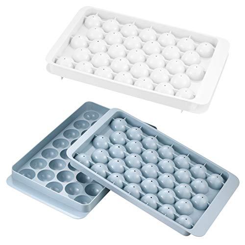 2 Stk Eiswürfelform, Eisformen BPA Frei, Eiskugelform, Pralinenform, Ice Maker für 33 kleine Eiskugeln