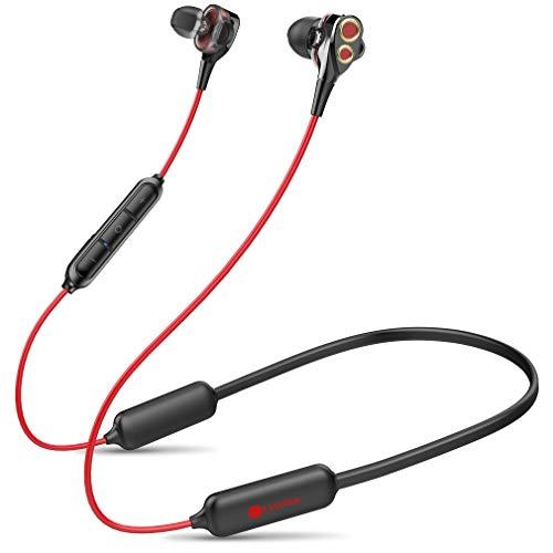 Linklike Quad-Dynamic Treiber In Ear Kopfhörer Sport, 16Std Laufzeit HiFi Sound IPX7 Wasserdicht Magnetisches Bluetooth 5,0 Earbuds mit Noise Cancelling MEMS Mikrofon, Ultraleicht Ohrhörer für Joggen
