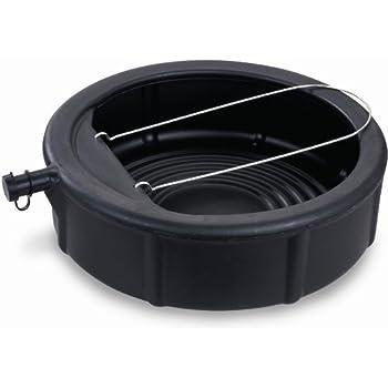 Lumax LX-1629 Black 5 Gallon Plastic Oil Drain Pan with Wire Loop Handle