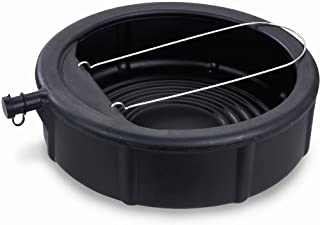 Lumax LX-1629 Black 5 Gallon Plastic Oil Drain Pan with Wire Loop Handle