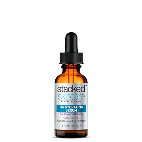 StackedSkincare HA Hydrating Serum - Plumps for Glowing, Beautiful Skin - Best for All Types (Balinese Champaca, 1fl oz)