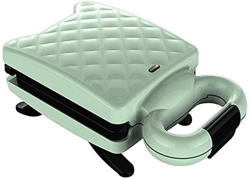 BBGSFDC Multi-Función Wafflera, Hogar sandwichera Doble Cara Uniforme Calefacción Revestimiento Antiadherente, Fijo Operación Hebilla es Simple for Sandwich, Verde (Color : Green)