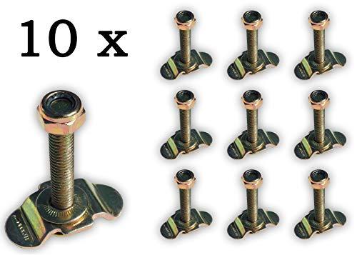 NTG 10 x Single Schraubfitting für Airlineschiene M8x45, 500 daN