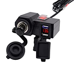 Can be used as GPS charging, cell phone charger, Car MP3 power supply, car vacuum cleaner, car tire inflation power, etc Built-in fuse and strict tests ensure great safety and reliability. 57 inch cable to reach anywhere on your motorcycle. This prod...