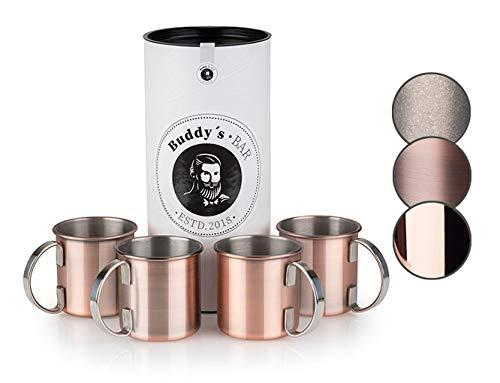 Buddy's Bar - Taza Moscow Mule, set de 4,4x450ml,tazas de acero de...