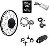SKYWPOJU Kit de Conversión E-Bike Kit de conversión de Bicicleta eléctrica MTB 48V 1500W Piezas de conversión de Rueda Trasera de Bicicleta eléctrica de montaña con Controlador de medidor KT-LCD8S
