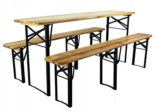 QLS Multistore 2002 - Juego de mesa y sillas plegables para camping