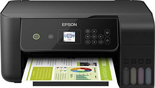 Epson EcoTank ET-2720 nachfüllbares 3-in-1 Tintenstrahl Multifunktionsgerät (Kopierer, Scanner, Drucker, DIN A4, WiFi, USB 2.0), großer Tintentank, hohe Reichweite, niedrige Seitenkosten, schwarz
