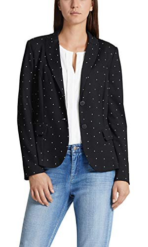 Marc Cain Additions Blazer da Donna Multicolore (Black And White 910) 36