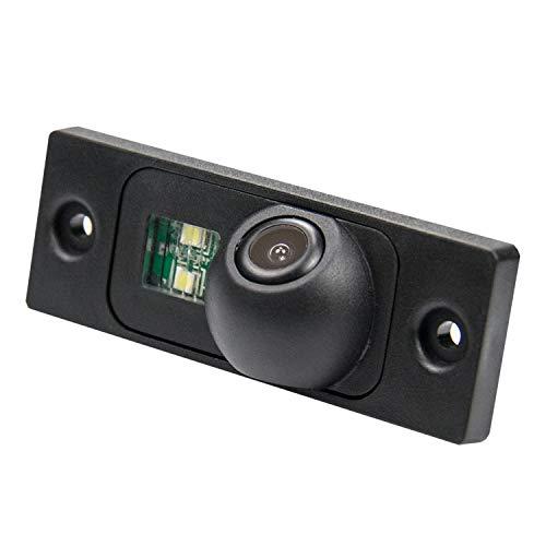 Rückfahrkamera wasserdicht Nachtsicht Auto Rückansicht Kamera Einparkhilfe, Kennzeichenleuchte (Schwarz) für VW Passat B5 3C 3B Sagitar VW Touran VW T5 VW Caddy