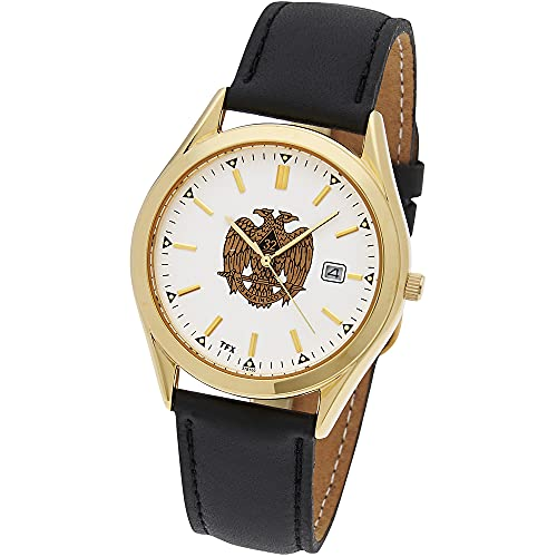 Men's Masonic Gold Plated Stainless Steel TFX by Bulova Scottish Rite Quartz Watch