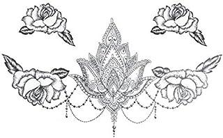 Lotus Blumen Große Temporäre Tätowierung Aufkleber Wasser