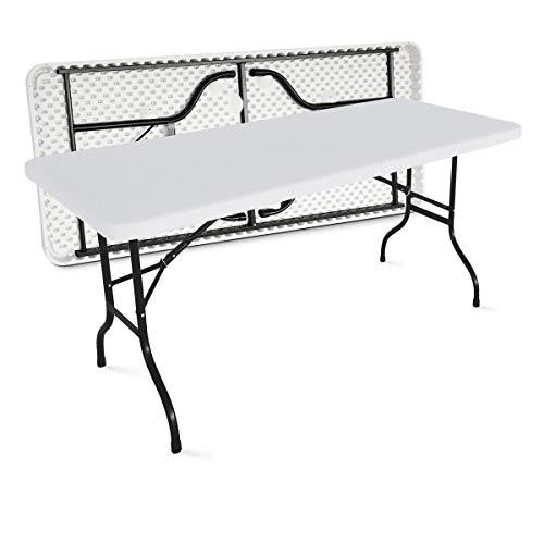 MOBEVENTPRO- Table de jardin pliante 180cm 8 places buffet traiteur extérieure - Blanc - 180cm x 74cm x 75cm