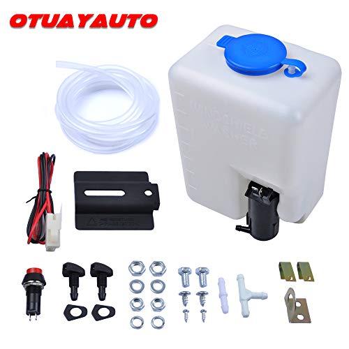 Universal Scheibenwaschanlage mit Pumpe, OTUAYAUTO Wischwasserbehälter 12V